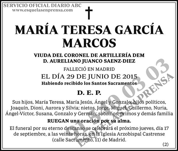 María Teresa García Marcos